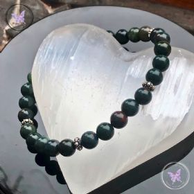 Bloodstone Bracelet With Sterling Silver